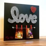"""String art """"Love"""""""