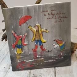 """Pikturë """"Kërcim në shi"""""""
