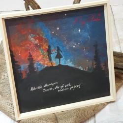 """Pikturë """"Kur shkëmbyem zemrat"""""""